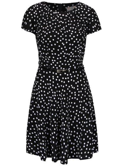 Bielo-čierne bodkované šaty s úzkym pásom Dorothy Perkins