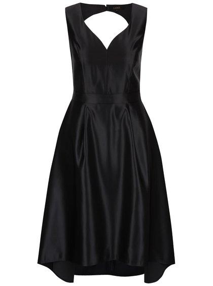 Čierne šaty s véčkovým výstrihom Dorothy Perkins