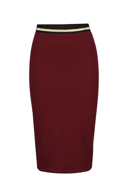 Vínová priliehavá sukňa s pružnou gumou v páse ZOOT