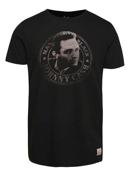 Černé triko Jack & Jones Johny Cash