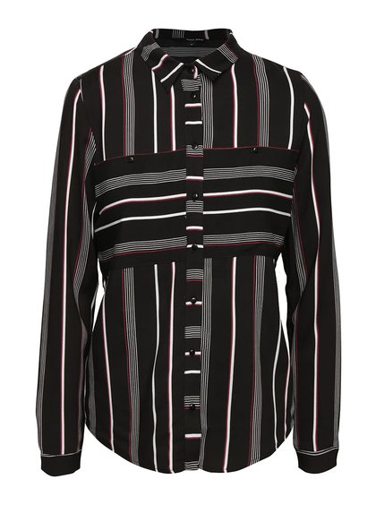 Černá dámská pruhovaná košile TALLY WEiJL