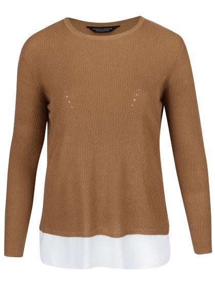 Hnedý ľahký sveter s dlhým rukávom Dorothy Perkins Curve