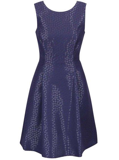 Tmavě modré puntíkaté šaty Dorothy Perkins