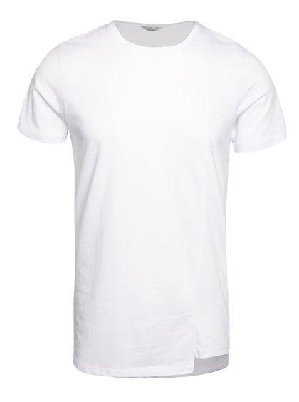Bílé triko s asymetrickým spodním lemem Jack & Jones Creed