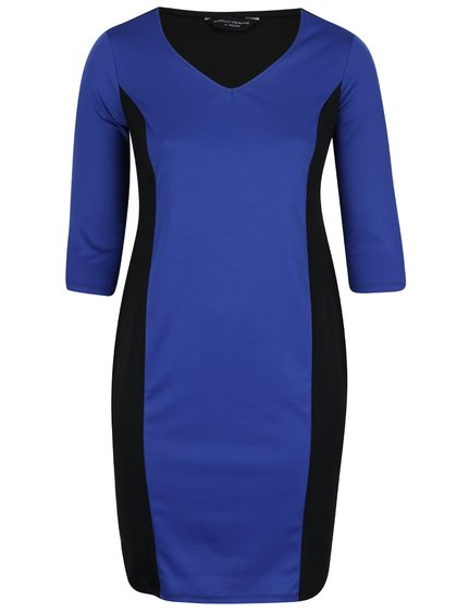 Černo-modré šaty s černými pruhy po stranách Dorothy Perkins Curve