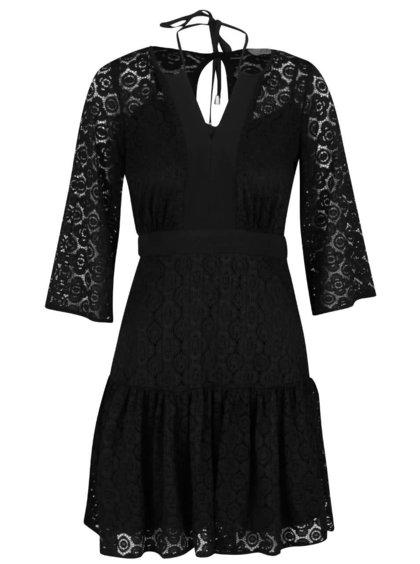 Rochie neagră Closet cu dantelă