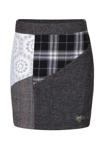 Krémovo-šedá sukně Desigual Laly