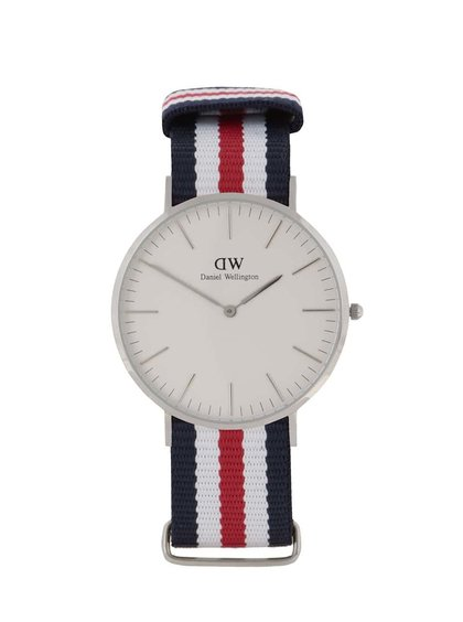 Pánské hodinky ve stříbrné barvě CLASSIC Cantebury Daniel Wellington