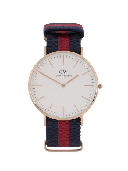 Ceas vișiniu & albastru Daniel Wellington CLASSIC Oxford pentru bărbați