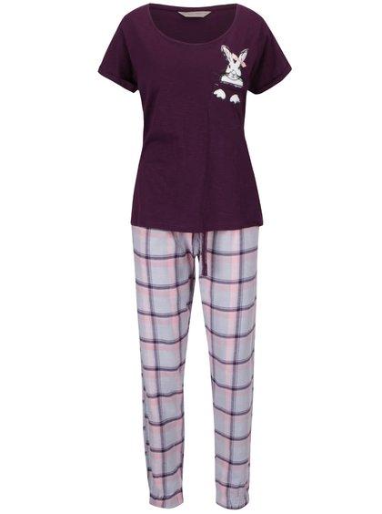 Růžovo-fialové pyžamo s potiskem králíka Dorothy Perkins