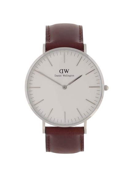 Pánské hodinky ve stříbrné barvě CLASSIC St. Mawes Daniel Wellington