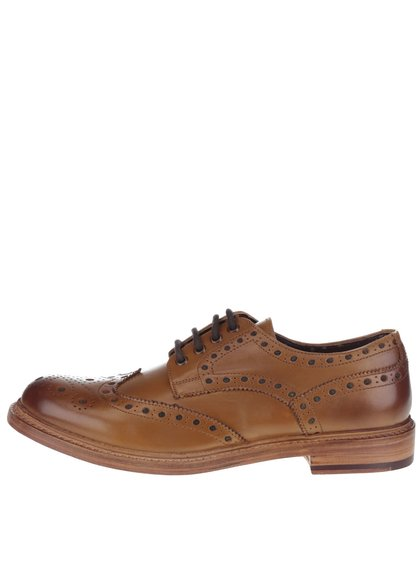 Pantofi brogue maro London Brogues din piele