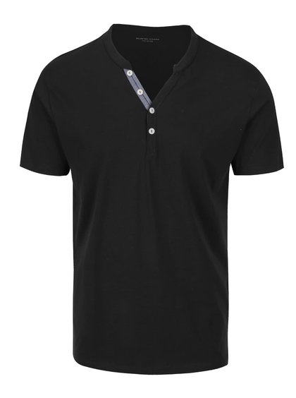 Tricou negru Selected Homme Pima