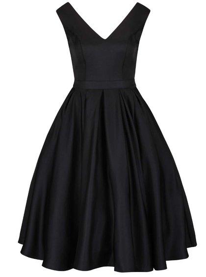 Černé šaty s výstřihem na zádech a tylovou sukní Chi Chi London