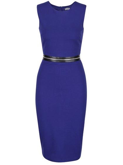 Modré šaty s ozdobným zipsom okolo pása Goddiva