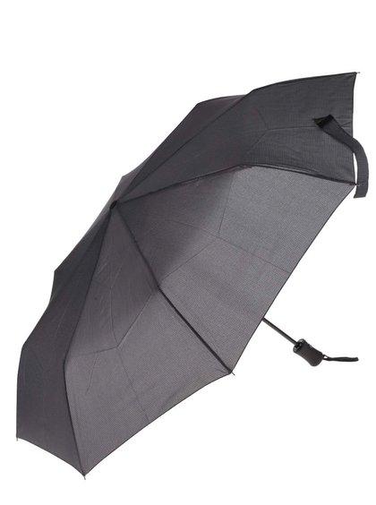Tmavě šedý pánský vzorovaný vystřelovací deštník Derby