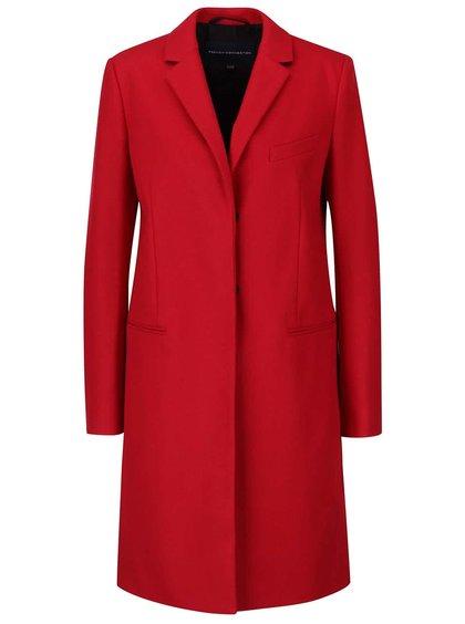 Červený dámský vlněný kabát French Connection Platform