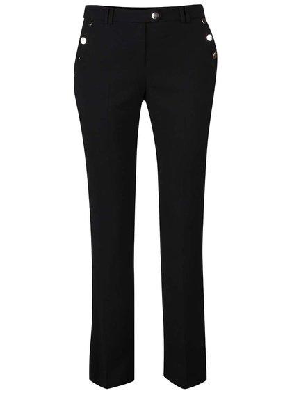 Čierne formálne nohavice s patentkami v zlatej farbe Dorothy Perkins