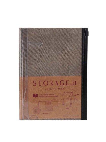 Khaki zápisník A5 Mark's STORAGE.IT
