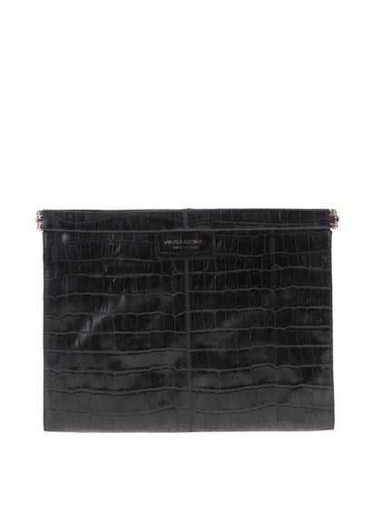 Černé kožené vzorované psaníčko No. 71 Vagabond