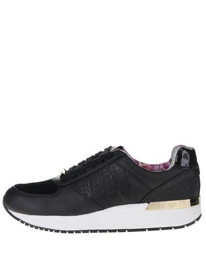 Pantofi sport negri Ted Baker Lwoire din piele