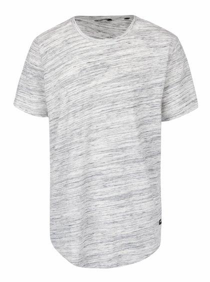 Šedo-krémové žíhané triko ONLY & SONS Melanger