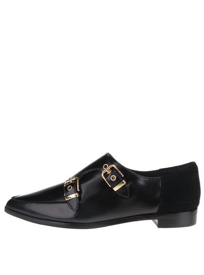 Pantofi negri din piele, cu catarame Ted Baker Naoi