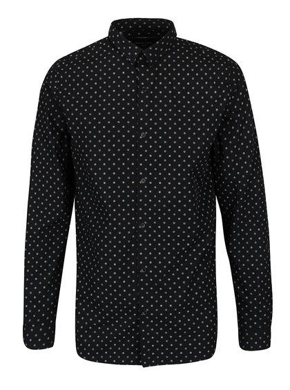Černá košile s puntíky Selected Homme Florentino