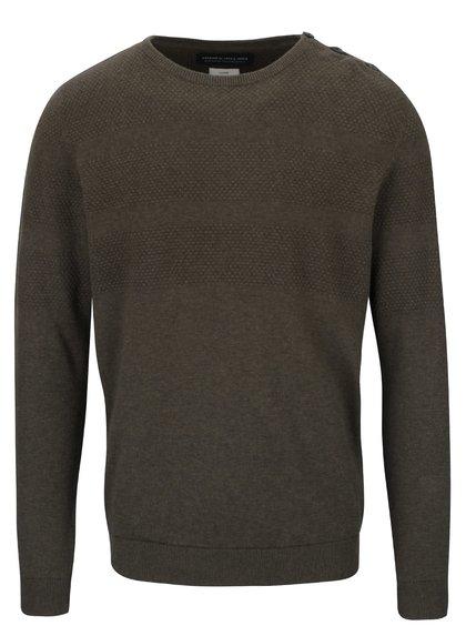 Kaki sveter s gombíkmi Jack & Jones