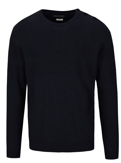 Tmavě modrý svetr s knoflíky Jack & Jones