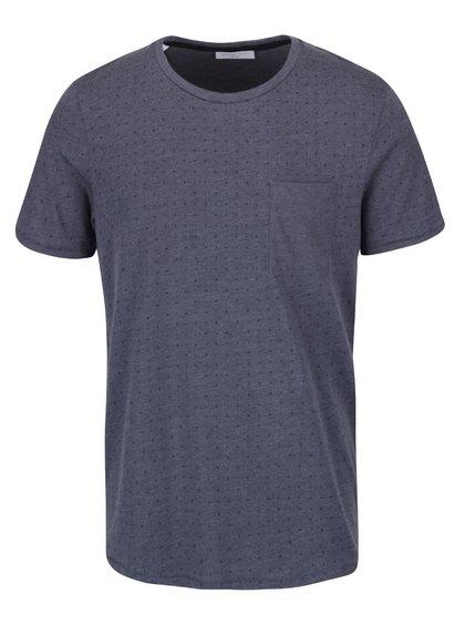 Šedé vzorované triko Selected Homme Newton