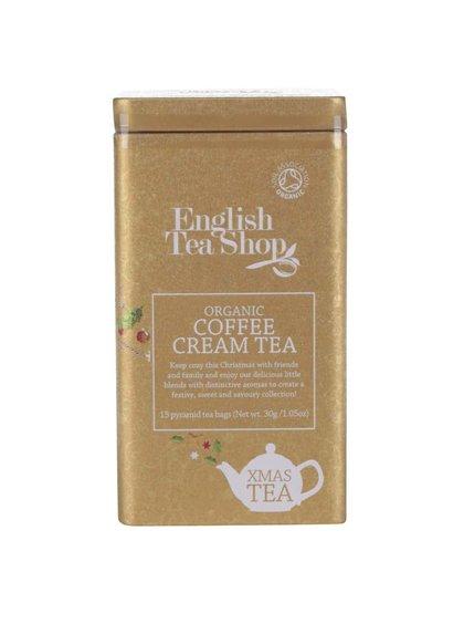 Plechovka čajů ve zlaté barvě English Tea Shop Coffee Cream