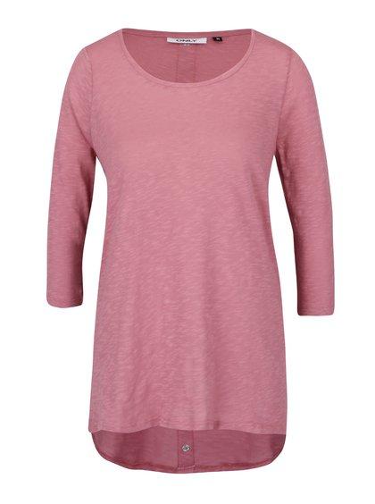 Růžový dámský top s 3/4 rukávem ONLY Casa