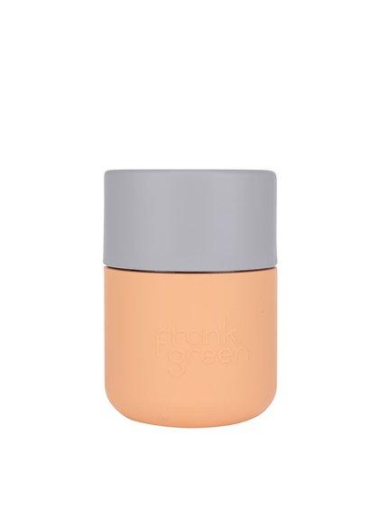 Oranžový SmartCup s šedým víčkem Frank Green 230 ml