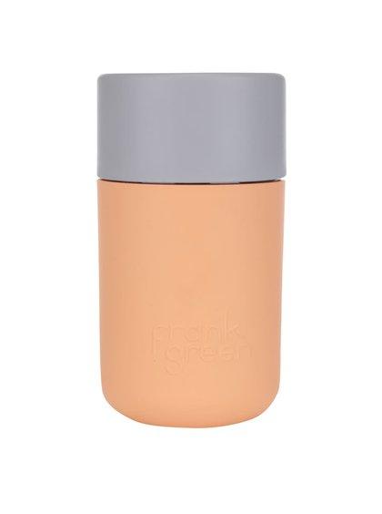Oranžový SmartCup so sivým viečkom Frank Green 340 ml