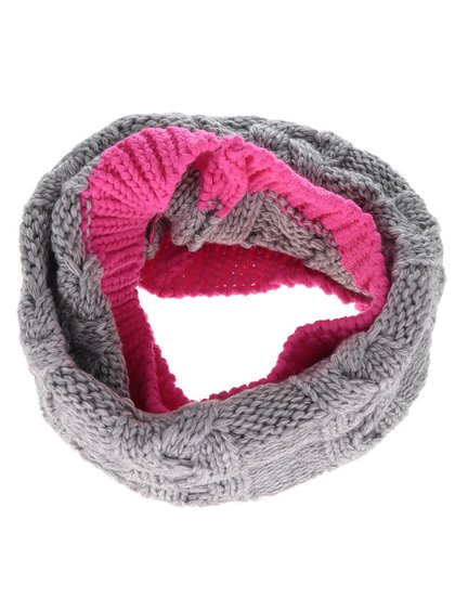 Eșarfă tubulară gri & roz 5.10.15. pentru fete