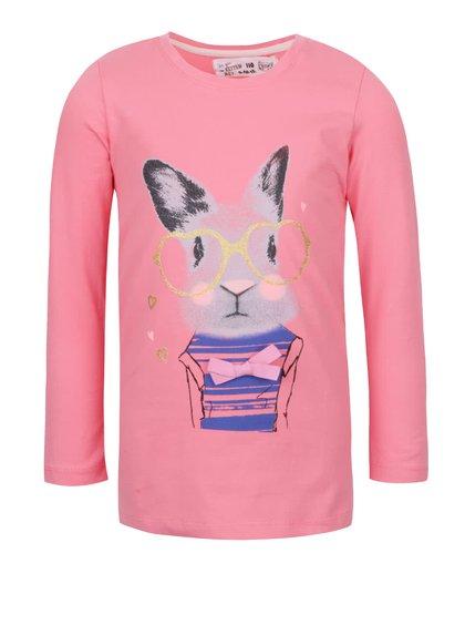 Bluză roz 5.10.15. cu print pentru fete
