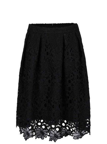 Černá krajkovaná sukně VILA Rasma