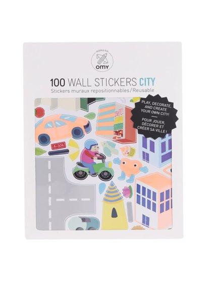 Set de stickere autocolante OMY cu detalii urbane