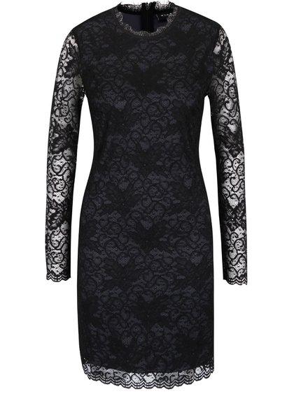 Rochie neagră VILA Piatri din dantelă