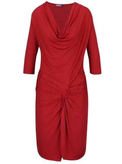 Červené šaty s preveseným výstrihom ZOOT