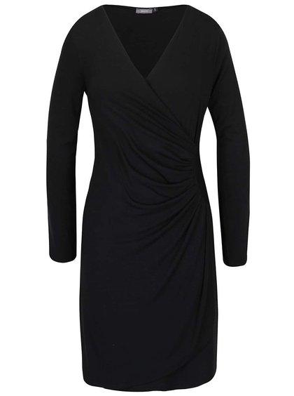 Černé šaty s překládaným výstřihem ZOOT