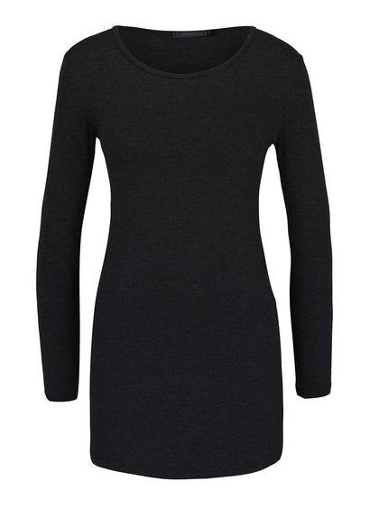 Černé delší tričko s dlouhým rukávem ZOOT