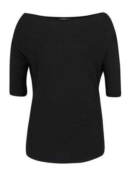 Černé delší tričko s 3/4 rukávy ZOOT