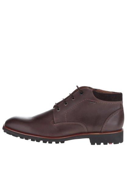 Tmavě hnědé pánské kožené kotníkové boty Lloyd Giovanni