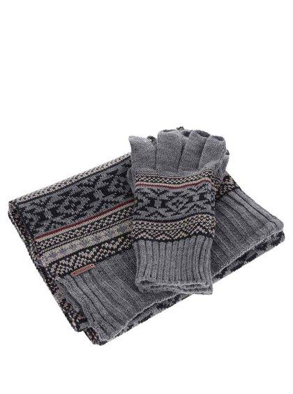 Set fular și mănuși Something Special cu model