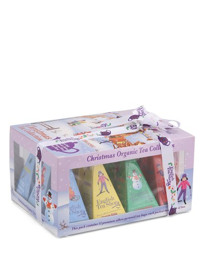 Dárková krabička čajů English Tea Shop Lyžaři a sáňkaři