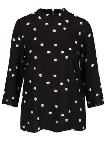 Černá halenka s bílými puntíky a 3/4 rukávy Vero Moda Dottie