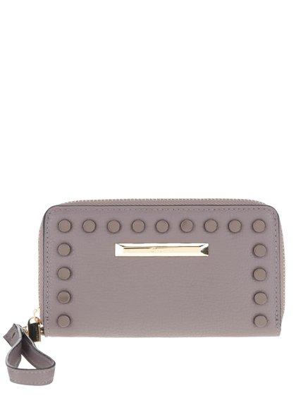 Šedohnědá dámská peněženka s plastickými detaily Gionni Purses