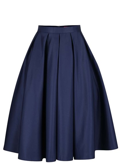 Tmavomodrá sukňa Chi Chi London